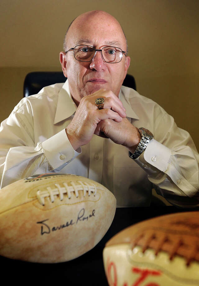 Former Texas football player Paul Robichau, pictured, played for famed coach Darrell Royal in the late 1960s. Royal died Wednesday. Robichau said Royal was a quick witted coach who remembered all of his players. Photo taken Wednesday, November 07, 2012 Guiseppe Barranco/The Enterprise Photo: Guiseppe Barranco, STAFF PHOTOGRAPHER / The Beaumont Enterprise