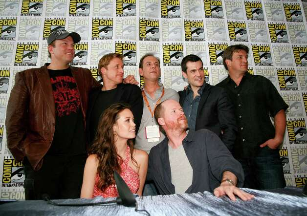 "San Antonio's Summer Glau joins ""Firefly"" cast and crew members for a lively reunion TV special airing tonight on the Science Channel. Photo: James Aronovsky, Science Channel / Science Channel"