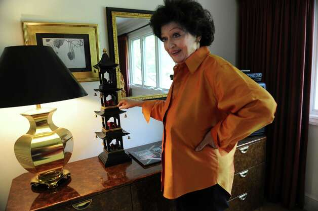 Kathe Birnbaum,  an artist and decorator, shows her home in Greenwich Wednesday, Oct. 17, 2012. Chinese art that Birnbaum decorated. Photo: Helen Neafsey / Greenwich Time