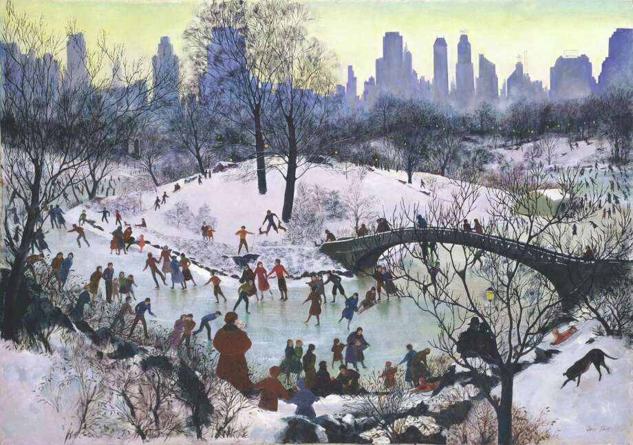 Agnes Tait Skating in Central Park, 1934, oil on canvas Smithsonian American Art Museum Transfer from the U.S. Department of Labor