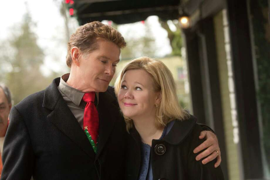 (L to R) David Hasselhoff and Caroline Rhea star in the all-new Lifetime Original Movie, The Christmas Consultant, premiering Saturday, November 10, at 8pm ET/PT on Lifetime. Photo: Lifetime
