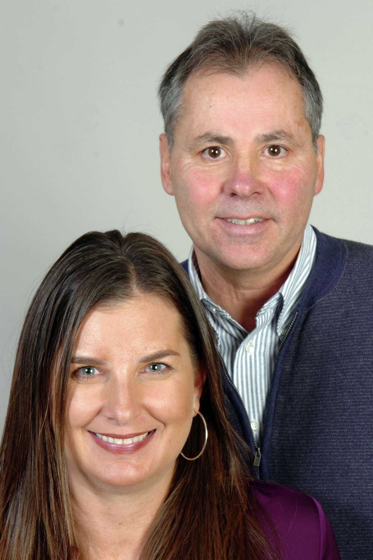 Kelly Cummings and Bill Pelletier, of Bridgeport. Light in the Storm, Nov. 8th, 2012.