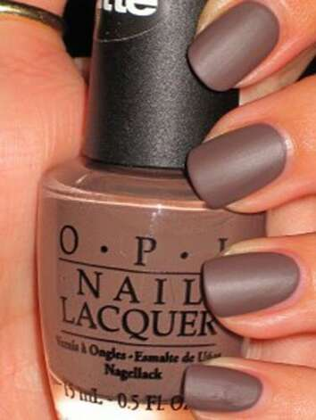 "Matte To achieve this look, all you have to do is apply three coats of OPI ""You Don't Know Jacques Matte,"" pictured here, or any other polish from the OPI matte collection. For this manicure, using a top coat would ruin the matte look and make your nails look shiny. You can, however, use a matte top coat, which can also be found at OPI. Manicure courtesy of Amy at nailstah.com.