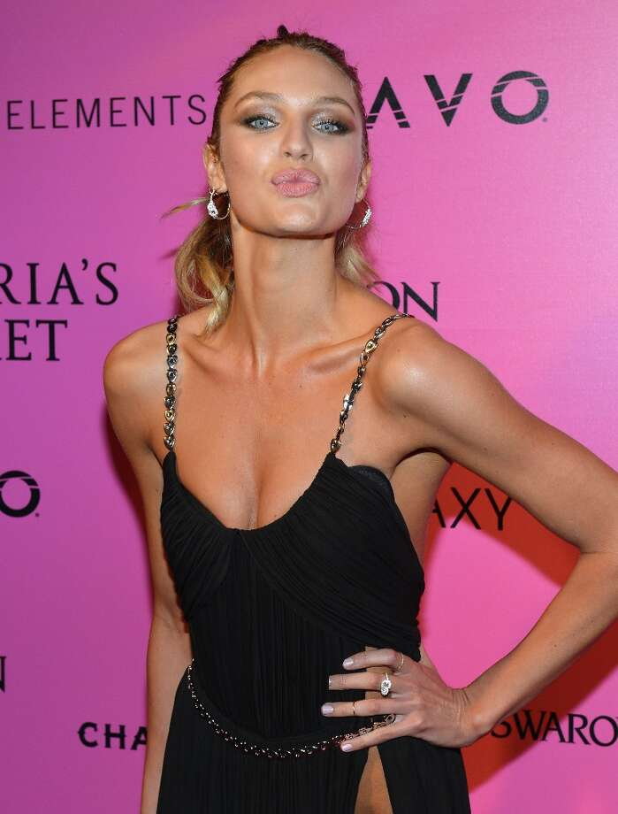 Model Candice Swanepoel attends Samsung Galaxy features arrivals at the official Victoria's Secret fashion show after party on November 7, 2012 in New York City.  (Photo by Slaven Vlasic/Getty Images for Samsung Galaxy) Photo: Slaven Vlasic, Getty Images For Samsung Galaxy / 2012 Getty Images