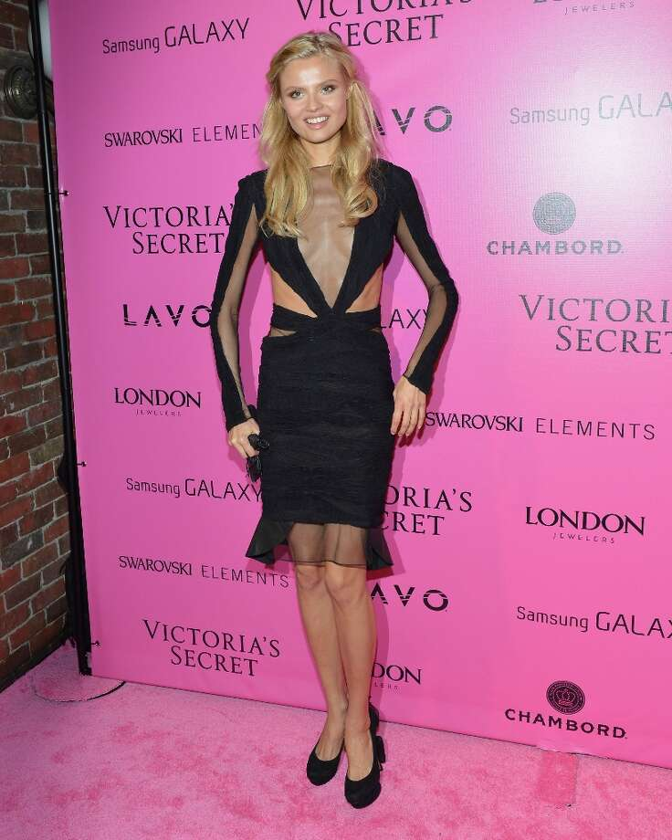 Model Lily Donaldson attends Samsung Galaxy features arrivals at the official Victoria's Secret fashion show after party on November 7, 2012 in New York City.  (Photo by Slaven Vlasic/Getty Images for Samsung Galaxy) Photo: Slaven Vlasic, Getty Images For Samsung Galaxy / 2012 Getty Images