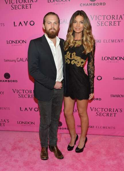 Musician Caleb Followill of Kings of Leon and model Lily Aldridge attends Samsung Galaxy features ar