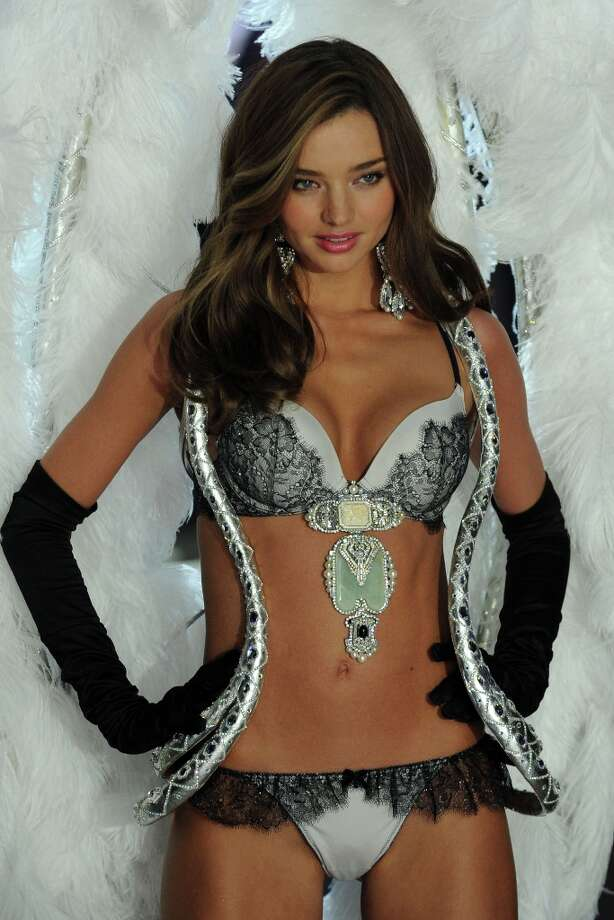 Victoria's Secret Angel Miranda Kerr walks the runway during the Victoria's Secret 2012 Fashion Show on November 7, 2012 in New York City.  (Photo by Bryan Bedder/Getty Images for SWAROVSKI ELEMENTS) Photo: Bryan Bedder, Getty Images For SWAROVSKI ELEME / 2012 Getty Images