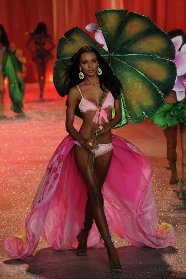 Model Jasmine Tookes walks the runway during the Victoria's Secret 2012 Fashion Show on November 7, 2012 in New York City.  (Photo by Bryan Bedder/Getty Images for SWAROVSKI ELEMENTS) Photo: Bryan Bedder, Getty Images For SWAROVSKI ELEME / 2012 Getty Images