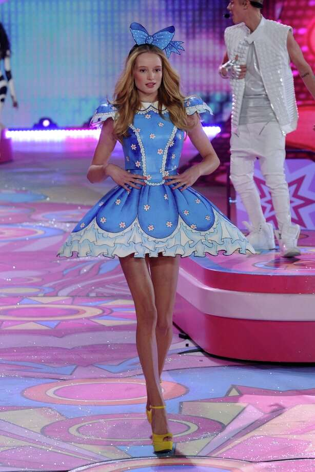 Model Maud Welzen walks the runway during the Victoria's Secret 2012 Fashion Show on November 7, 2012 in New York City.  (Photo by Bryan Bedder/Getty Images for SWAROVSKI ELEMENTS) Photo: Bryan Bedder, Getty Images For SWAROVSKI ELEME / 2012 Getty Images