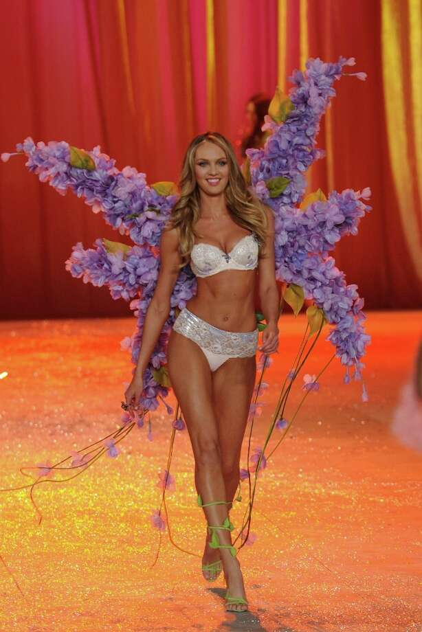 Victoria's Secret Angel Candice Swanepoel walks the runway during the Victoria's Secret 2012 Fashion Show on November 7, 2012 in New York City.  (Photo by Bryan Bedder/Getty Images for SWAROVSKI ELEMENTS) Photo: Bryan Bedder, Getty Images For SWAROVSKI ELEME / 2012 Getty Images