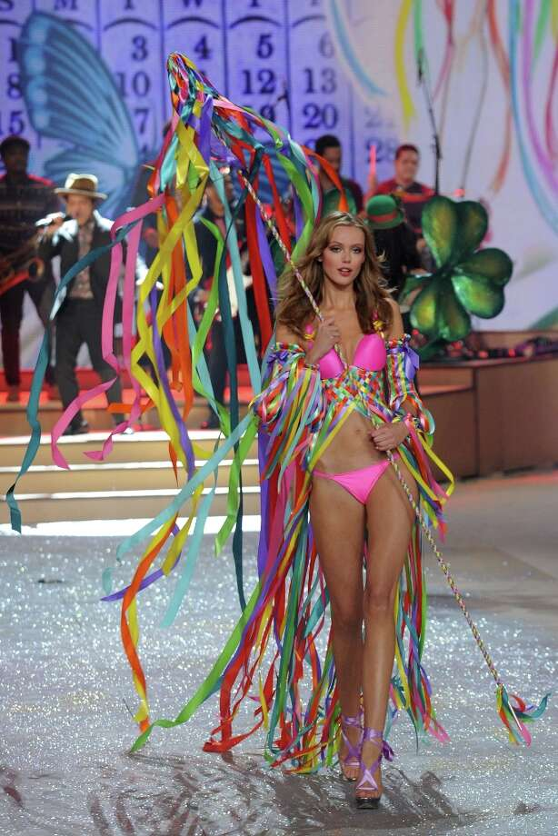 Model Frida Gustavsson walks the runway during the Victoria's Secret 2012 Fashion Show on November 7, 2012 in New York City.  (Photo by Bryan Bedder/Getty Images for SWAROVSKI ELEMENTS) Photo: Bryan Bedder, Getty Images For SWAROVSKI ELEME / 2012 Getty Images