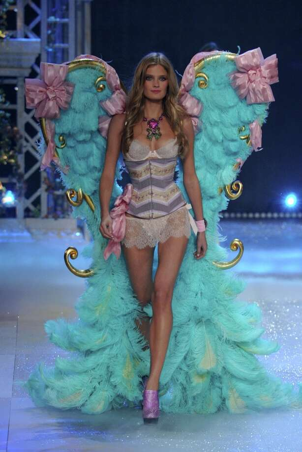 Model  Constance Jablonski walks the runway during the Victoria's Secret 2012 Fashion Show on November 7, 2012 in New York City.  (Photo by Bryan Bedder/Getty Images for SWAROVSKI ELEMENTS) Photo: Bryan Bedder, Getty Images For SWAROVSKI ELEME / 2012 Getty Images