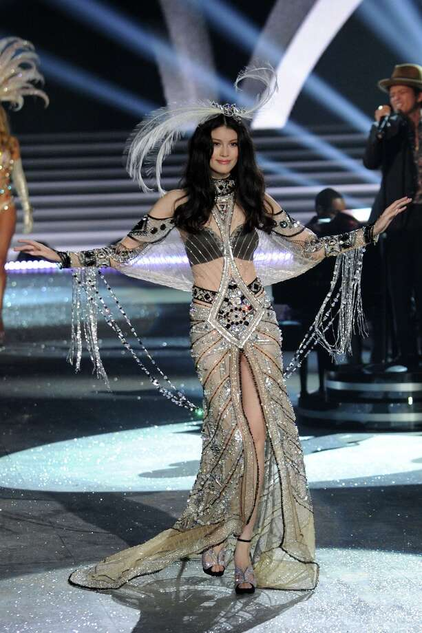 Model Sui He walks the runway during the Victoria's Secret 2012 Fashion Show on November 7, 2012 in New York City.  (Photo by Bryan Bedder/Getty Images for SWAROVSKI ELEMENTS) Photo: Bryan Bedder, Getty Images For SWAROVSKI ELEME / 2012 Getty Images