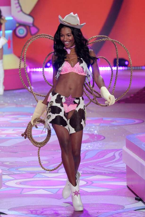 Model Sharam Diniz walks the runway during the Victoria's Secret 2012 Fashion Show on November 7, 2012 in New York City.  (Photo by Bryan Bedder/Getty Images for SWAROVSKI ELEMENTS) Photo: Bryan Bedder, Getty Images For SWAROVSKI ELEME / 2012 Getty Images