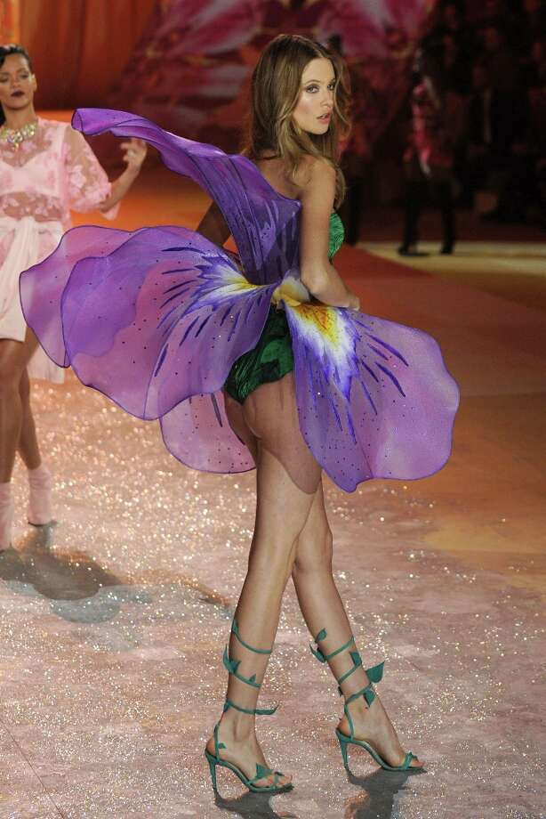 Model Behati Prinsloo walks the runway during the Victoria's Secret 2012 Fashion Show on November 7, 2012 in New York City.  (Photo by Bryan Bedder/Getty Images for SWAROVSKI ELEMENTS) Photo: Bryan Bedder, Getty Images For SWAROVSKI ELEME / 2012 Getty Images