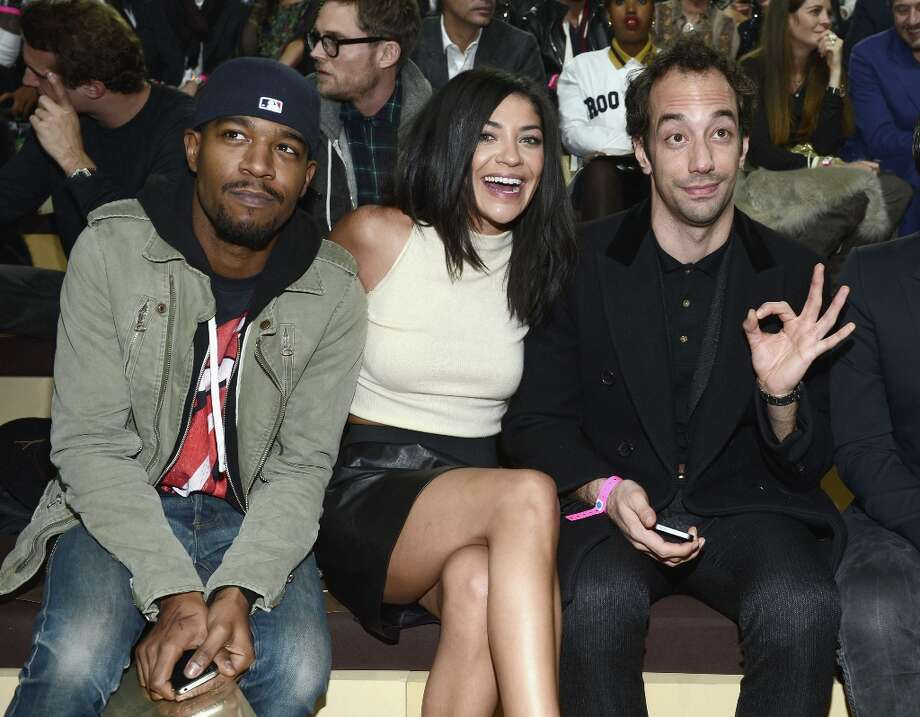 Kid Cudi, Jessica Szohr and Albert Hammond Jr attend the 2012 Victoria's Secret Fashion Show at the Lexington Avenue Armory on November 7, 2012 in New York City. Photo: Dimitrios Kambouris, Getty Images / 2012 Getty Images