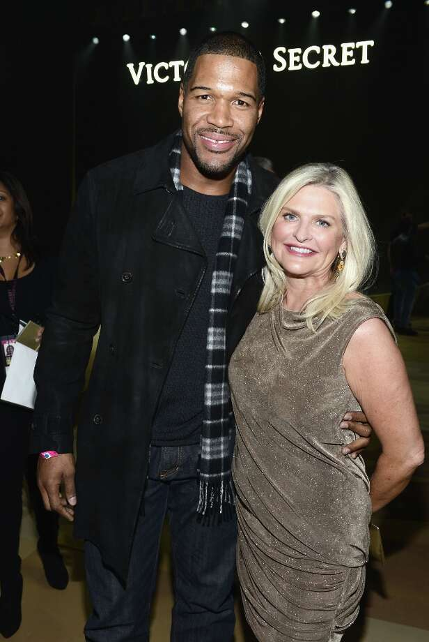 Michael Strahan and Victoria's Secret CEO Sharen Turney attends the 2012 Victoria's Secret Fashion Show at the Lexington Avenue Armory on November 7, 2012 in New York City.  (Photo by Dimitrios Kambouris/Getty Images) Photo: Dimitrios Kambouris, Getty Images / 2012 Getty Images