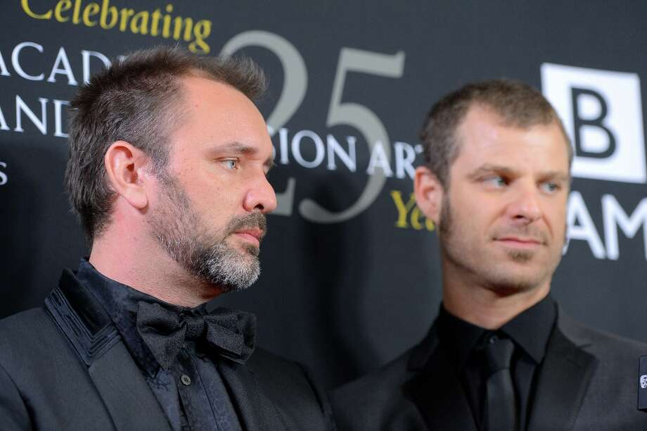 (L-R) Honorees Matt Stone and Trey Parker arrive at the 2012 BAFTA Los Angeles Britannia Awards Presented By BBC AMERICA at The Beverly Hilton Hotel on November 7, 2012 in Beverly Hills, California. Photo: Frazer Harrison, Getty Images For BAFTA / 2012 Getty Images
