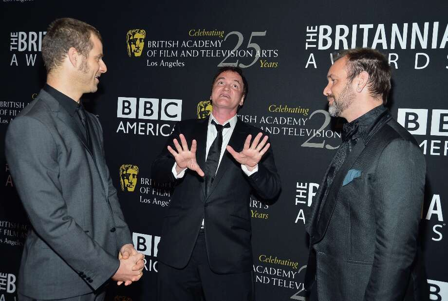 (L-R) Honorees Matt Stone, Quentin Tarantino and Trey Parker arrive at the 2012 BAFTA Los Angeles Britannia Awards Presented By BBC AMERICA at The Beverly Hilton Hotel on November 7, 2012 in Beverly Hills, California. Photo: Frazer Harrison, Getty Images For BAFTA / 2012 Getty Images