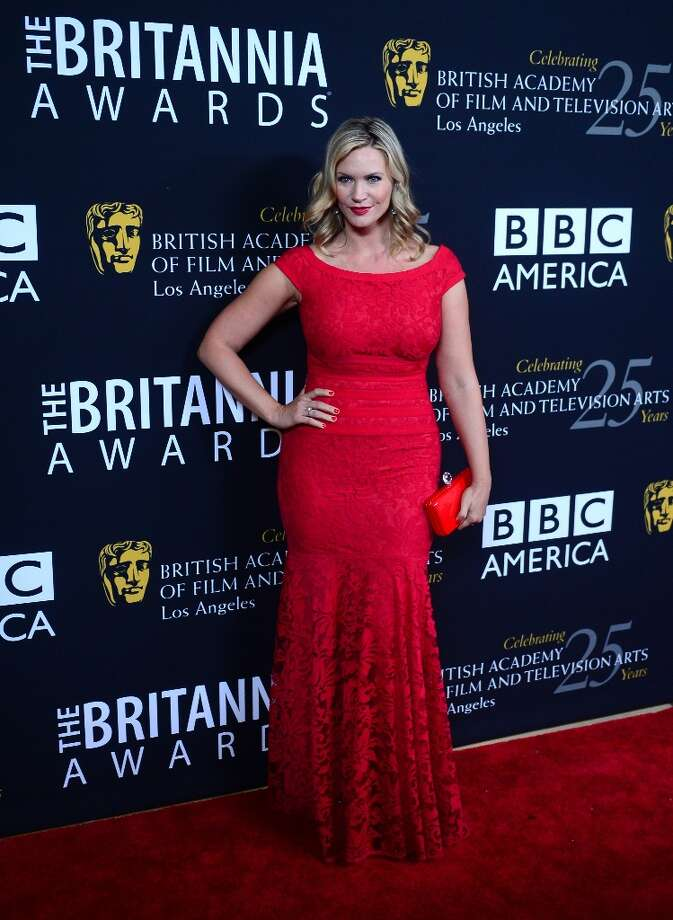 Actress Natasha Henstridge poses on arrival for BAFTA's 2012 Britannia Awards on November 7, 2012 in Beverly Hills, California. Photo: FREDERIC J. BROWN, AFP/Getty Images / AFP