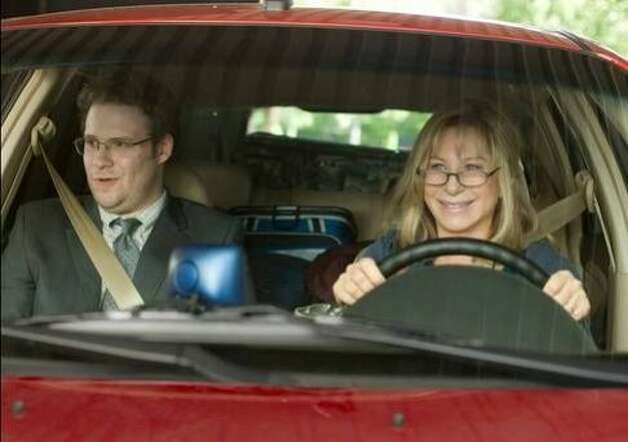 "Seth Rogen and Barbra Streisand play an inventor and his mother on the road in ""The Guilt Trip."" The movie is in theaters Dec. 19. Photo: Paramount Pictures"