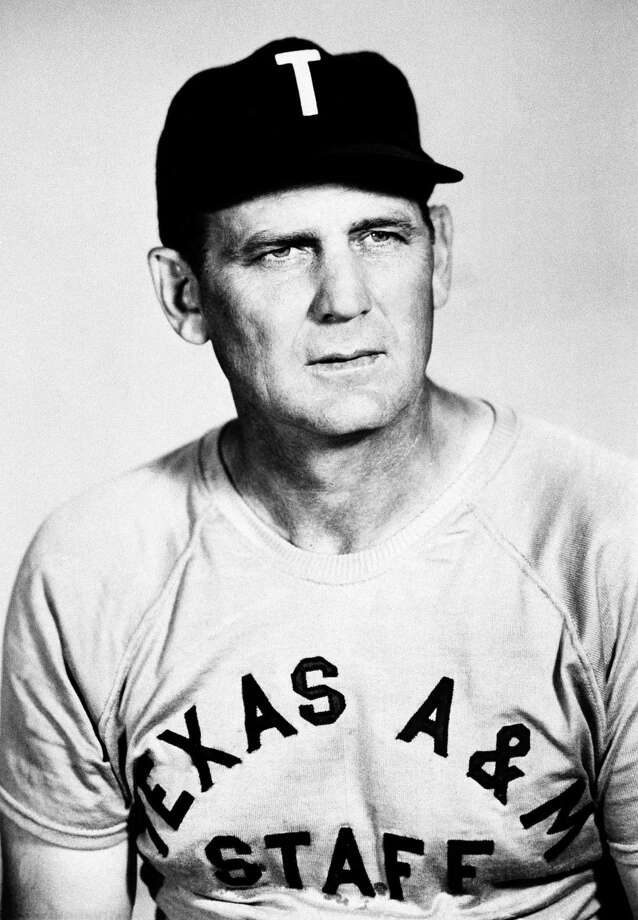 "In this undated file photo, Texas A&M football coach Paul ""Bear"" Bryant is shown in a portrait. In the movie ""The Junction Boys"" coach Bear Bryant, played by Tom Berenger, takes his first Texas A&M team to scorching Junction, Texas, for 10 days of training camp and turns his losers into winners. Photo: AP / 2007 AP"
