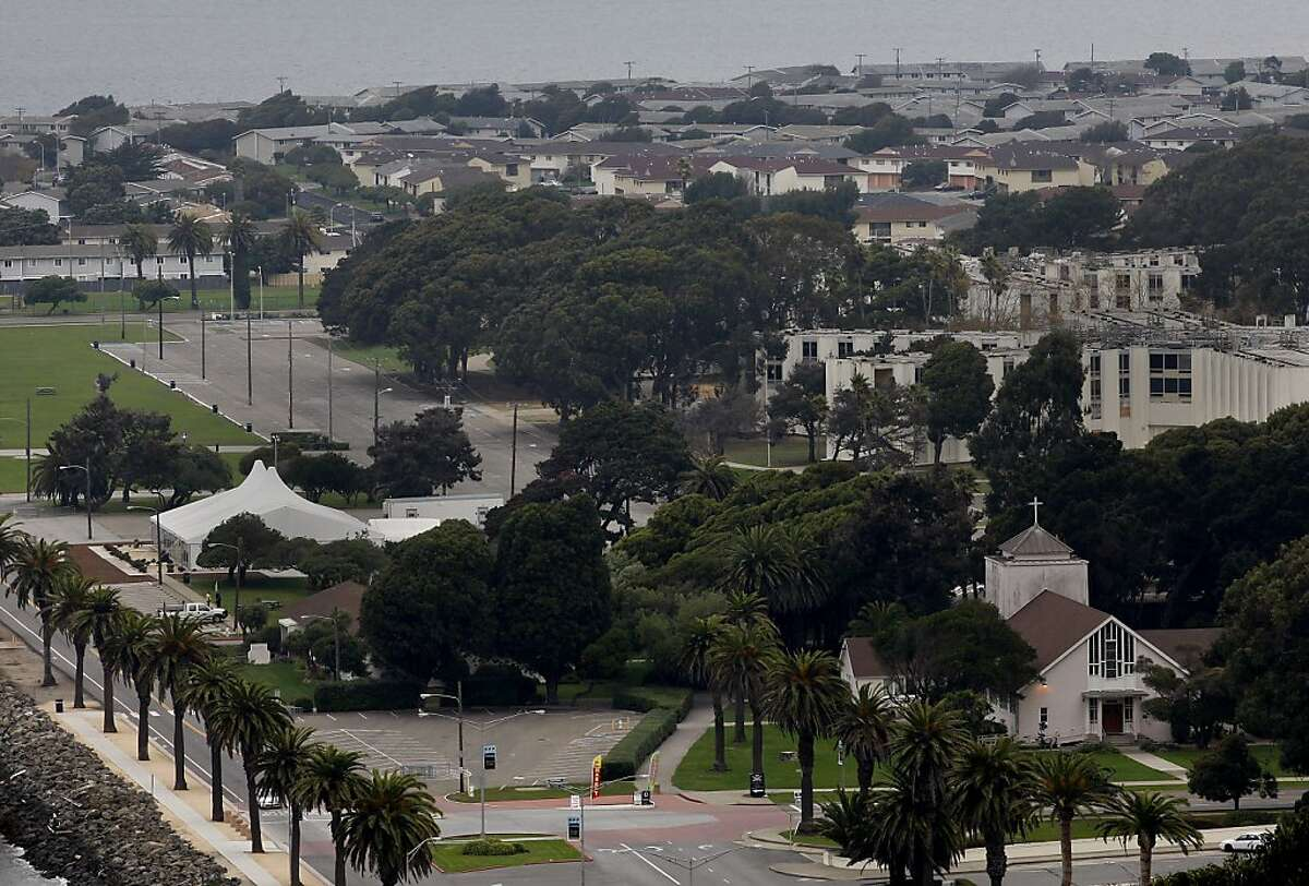 A view of Treasure Island with many of the residential areas in the background. Mark Connors, a resident of Treasure Island and neighborhood watch leader, is angry and tired of the routine power outages on the island.