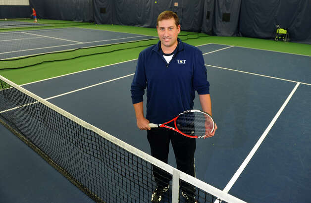 Tennis Club of Trumbull General Manager John Pagano poses at the club in Trumbull, Conn. on Thursday November 8, 2012. The tennis club, in conjunction with the Monro-Trumbull Health District, opened its locker rooms and showers to residents and disaster workers during Hurricane Sandy last week. Photo: Christian Abraham / Connecticut Post
