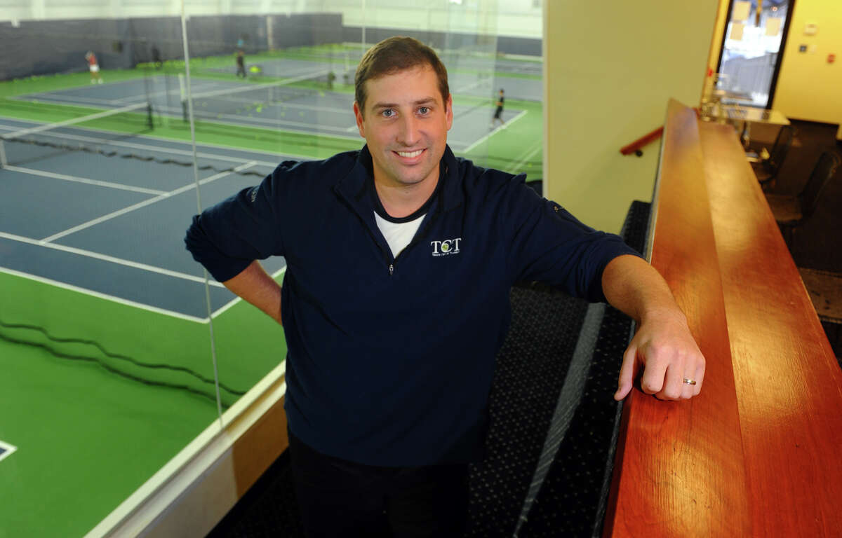 Tennis Club of Trumbull General Manager John Pagano poses at the club in Trumbull, Conn. on Thursday November 8, 2012. The tennis club, in conjunction with the Monroe-Trumbull Health District, opened its locker rooms and showers to residents and disaster workers during Hurricane Sandy last week.
