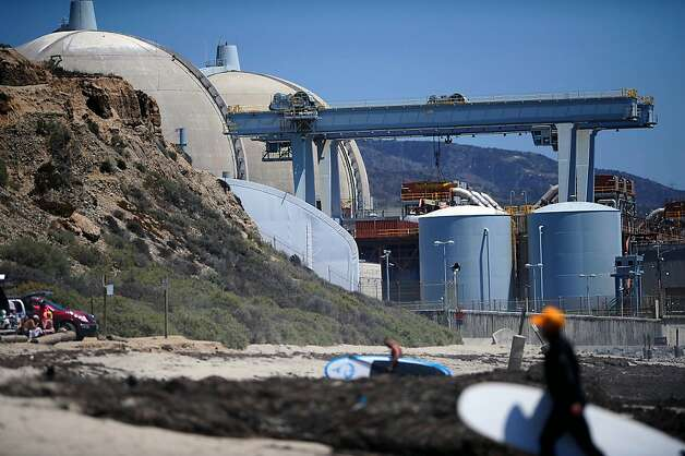 The San Onofre nuclear power plant in San Diego County hasn't operated since January after steam generators installed in '09 and '10 turned out to be faulty. Photo: Grant Hindsley, Associated Press
