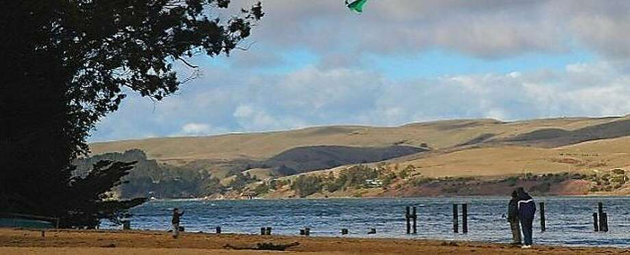 Chicken Ranch Beach is usually so calm, you can launch a car-top boat there, or - if it's warm - float an inflatable. Photo: Marin Parks And Open Space