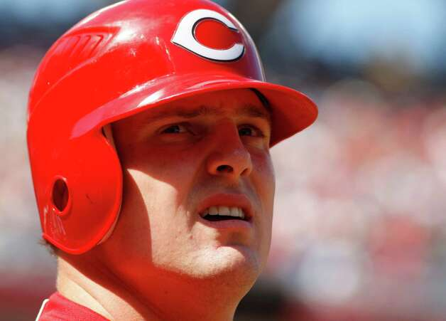 Cincinnati Reds right fielder Jay Bruce during a baseball game against the Detroit Tigers, Saturday, June 9, 2012, in Cincinnati. (AP Photo/David Kohl) Photo: AP, FRE / AP2012