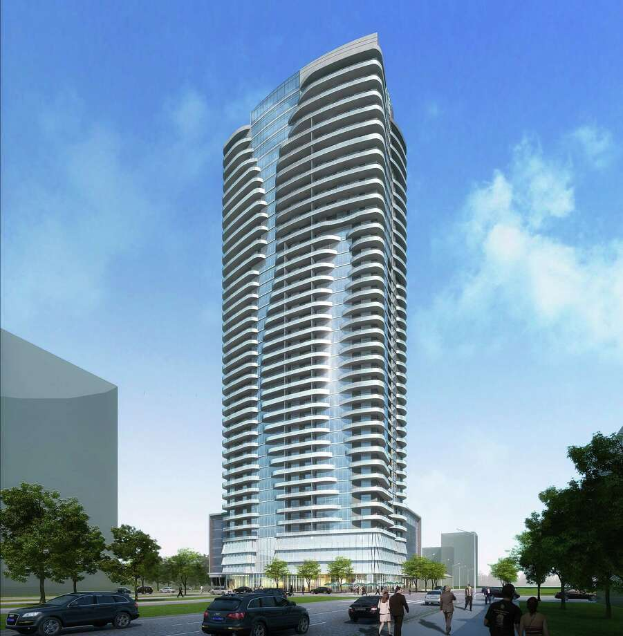 Rendering of 40-story high-rise called 2929 Weslayan. RTKL designed the building. Photo: PM Realty