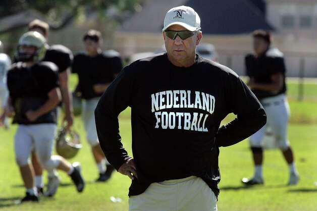Coach of the year Larry Neumann, Nederland Photo by: Randy Edwards/The Enterprise Photo: Randy Edwards