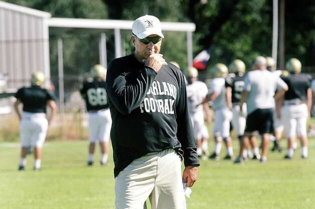 Coach Larry Neumann is in his 20th season as the head football coach for Nederland High School.  Photo taken: Randy Edwards/The Enterprise Photo: Randy Edwards