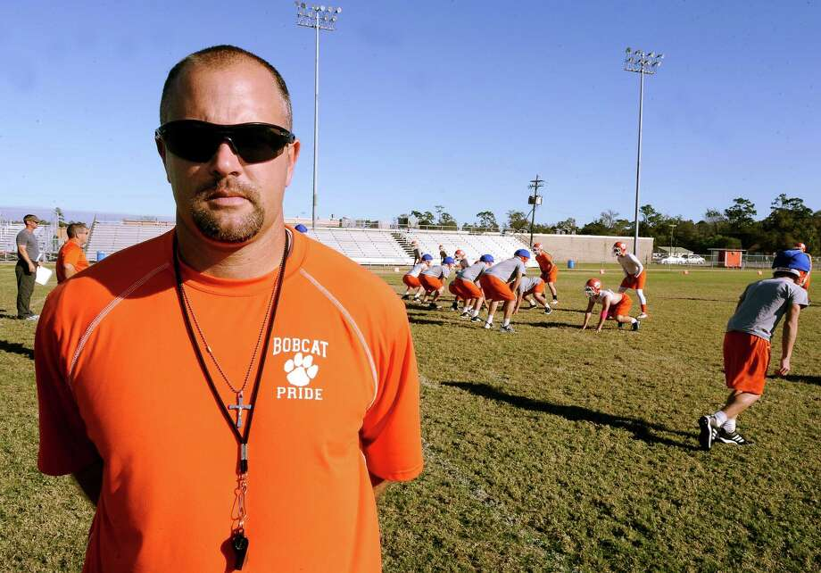 Orangefield coach Josh Smalley was born and raised a Bridge City fan and actually played football there. Smalley ends his first season as head coach playing Bridge City this Friday, November 9, 2012, to determine who moves on to the playoffs. Photo taken: Randy Edwards/The Enterprise Photo: Randy Edwards