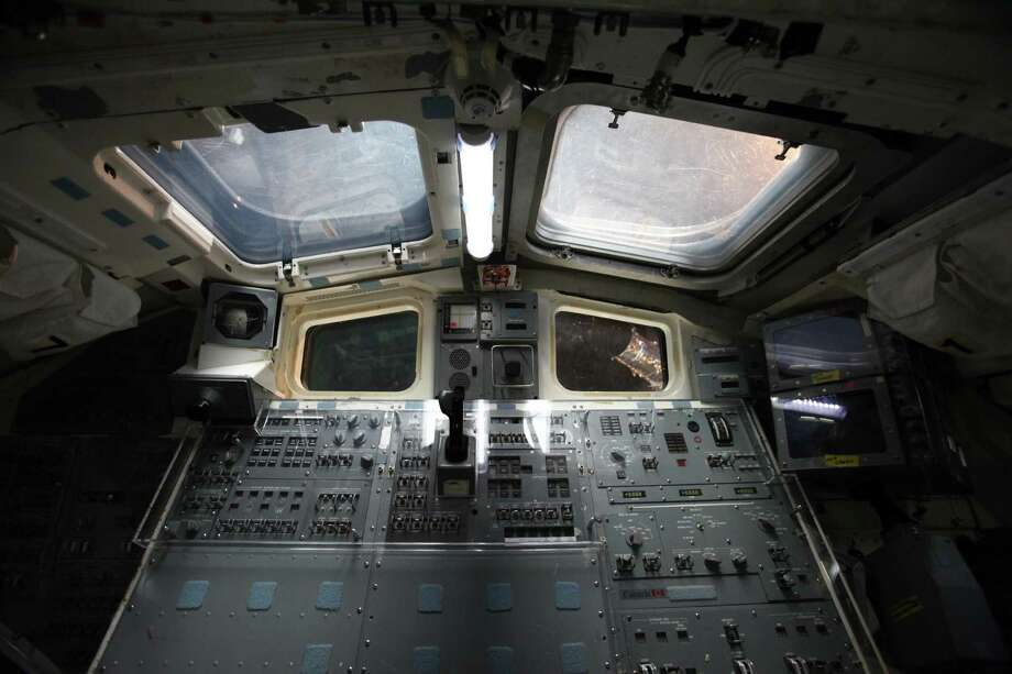 The interior of the Space Shuttle Full Fuselage Trainer crew compartment is shown on Thursday, November 8, 2012 in the Charles Simonyi Space Gallery at Seattle's Museum of Flight. The Museum will host a public grand opening event for the new exhibit on Saturday, November 10th. The fully-assembled shuttle trainer is four storeis tall and over 100 feet long and was used to train every space shuttle astronaut. Photo: JOSHUA TRUJILLO / SEATTLEPI.COM