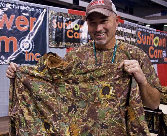 While his cousin's idea for Sunflower Camo was for dove hunters, Brian Lemley of Graford says the breakup pattern is a favorite of deer and turkey hunters, too, in a variety of terrains.