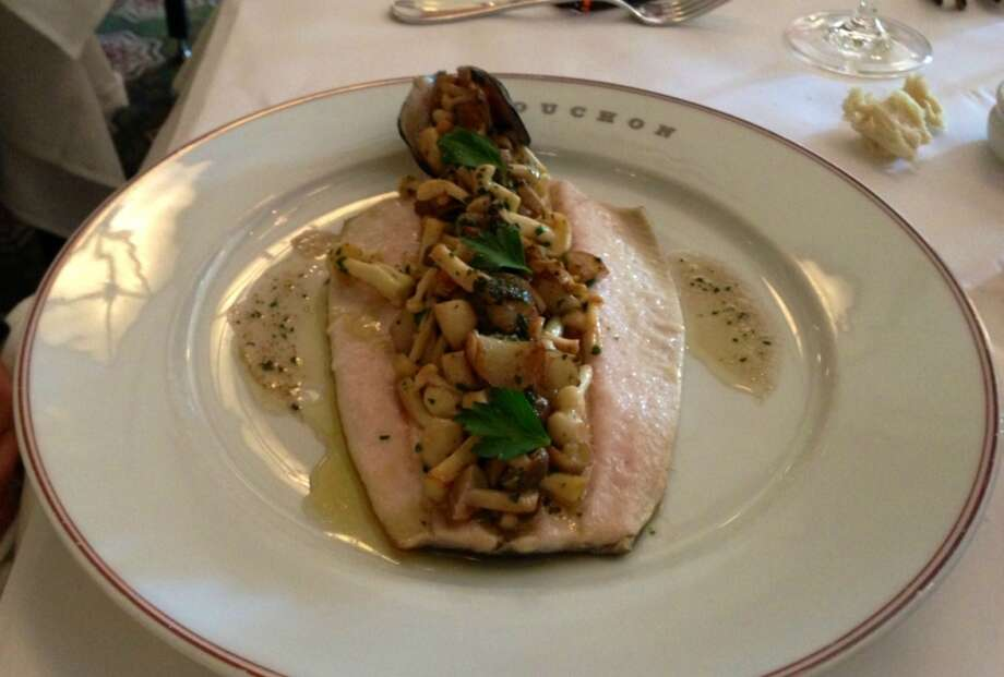 Idaho trout with marinated beech mushrooms from Bouchon in Yountville