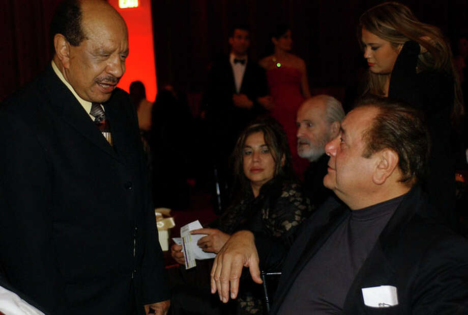 Sherman Hemsley and Paul Sorvino talk during a dinner gala prior to the opening of the opera Elixir of Love which is directed by Garry Marshall. Photo: HELEN L. MONTOYA, SAN ANTONIO EXPRESS-NEWS / SAN ANTONIO EXPRESS-NEWS