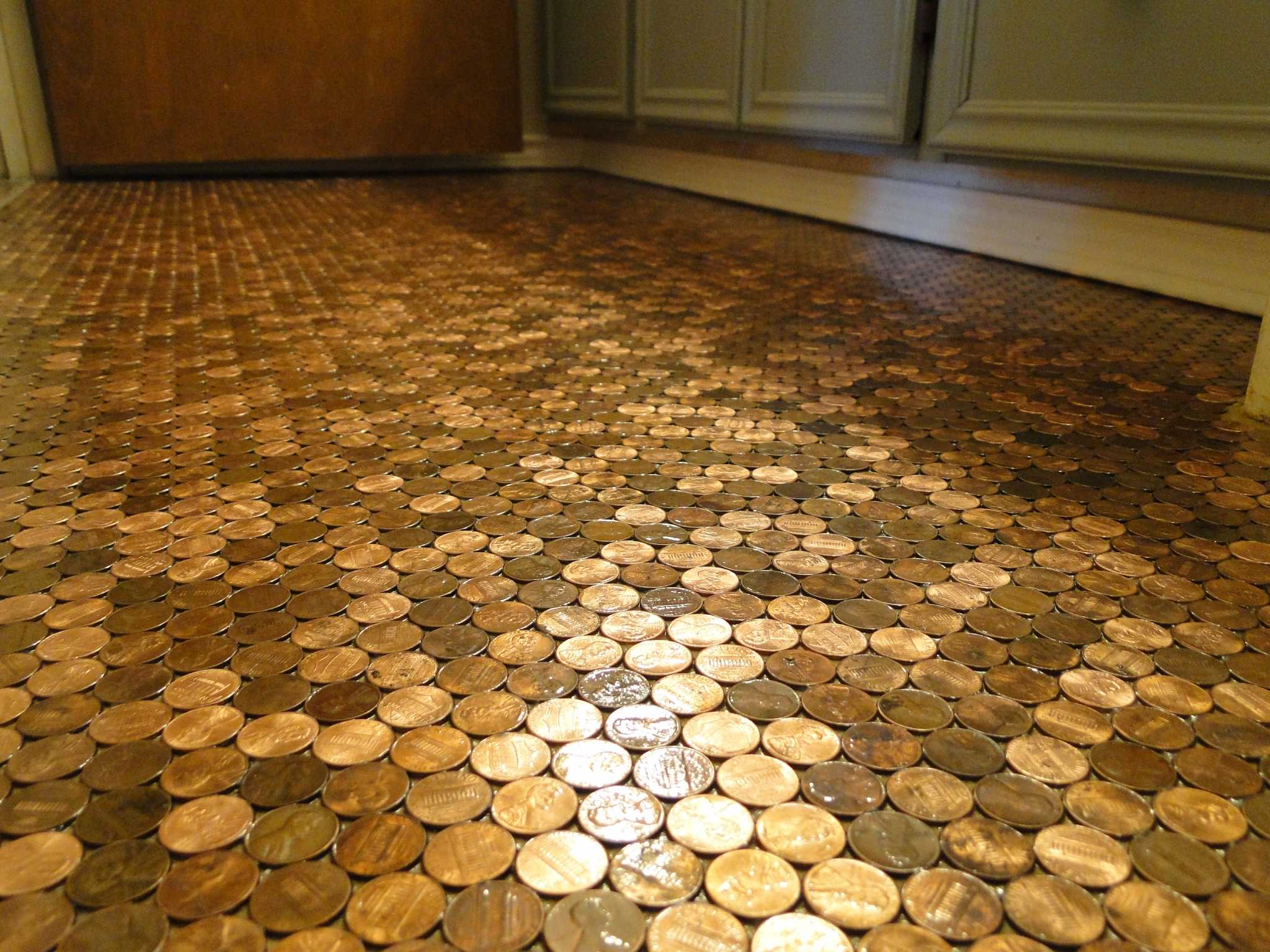Floor made of pennies is priceless - Houston Chronicle
