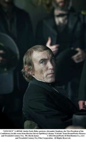 "Jackie Earle Haley portrays Alexander Stephens, the Vice-President of the Confederacy in this scene from director Steven Spielberg's drama ""Lincoln"" from DreamWorks Pictures and Twentieth Century Fox.  Ph: David James  © 2012 DreamWorks II Distribution Co., LLC and Twentieth Century Fox Film Corporation.  All Rights Reserved. Photo: David James / © 2012 DreamWorks II Distribution Co., LLC and Twentieth Century Fox Film Corporation.  All Rights Reserved."