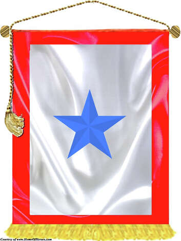 The Blue Star service flag is an official banner authorized by the Department of Defense for display by families who have members serving in the Armed Forces. Photo: Contributed Photo
