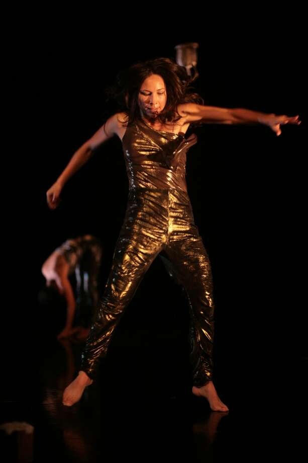 "Mass MoCA in North Adams, Mass., will present a workshop production of Emily Johnson's dance piece ""Niicugni (Listen),"" which features Johnson and Aretha Aoki, on Nov. 16, 2012.  (Chris Cameron)"