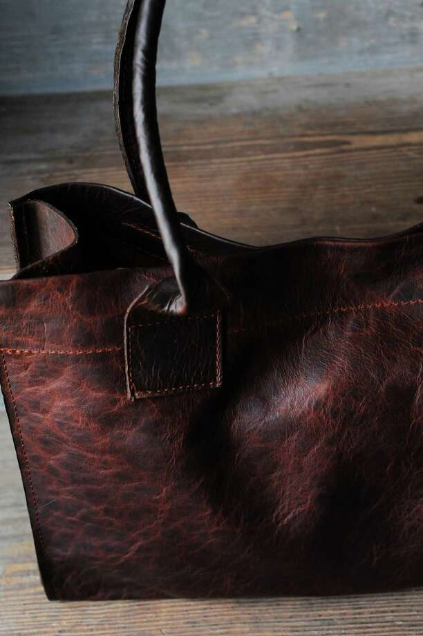 Stash's signature Market bag in Red Bison, $449, available by special order at stash-co.com Photo: Debora Smail / New