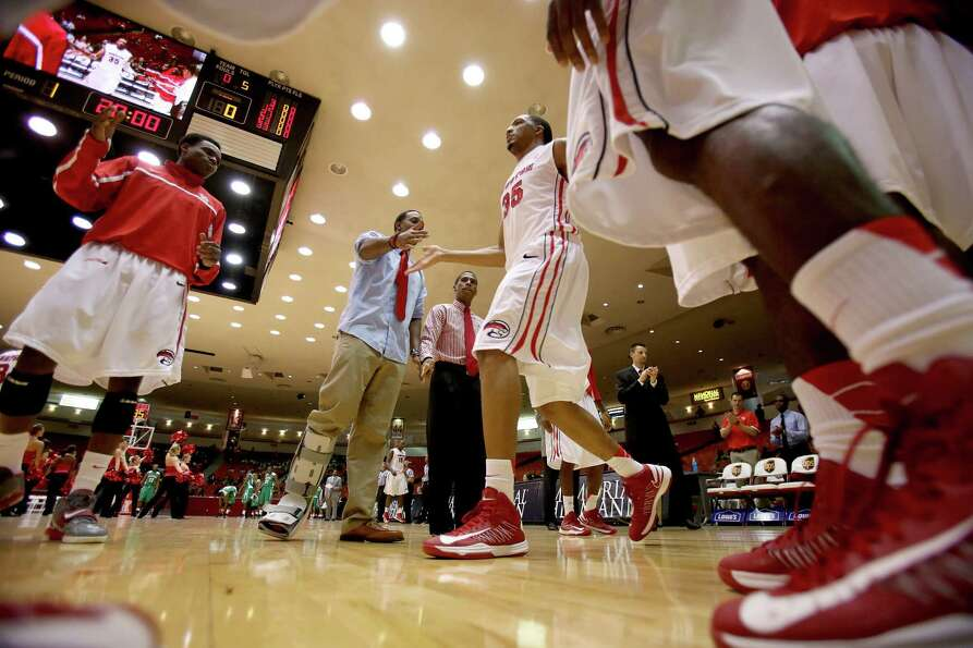 11/9/12: Houston Cougars forward TaShawn Thomas (35) is introduced before playing against the Florid