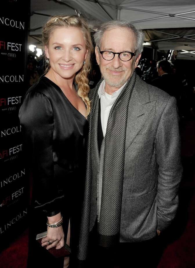 "Actress Jessica Capshaw and director Steven Spielberg arrive at the ""Lincoln"" premiere during AFI Fest 2012 presented by Audi at Grauman's Chinese Theatre on November 8, 2012 in Hollywood, California. Photo: Kevin Winter, Getty Images For AFI / 2012 Getty Images"