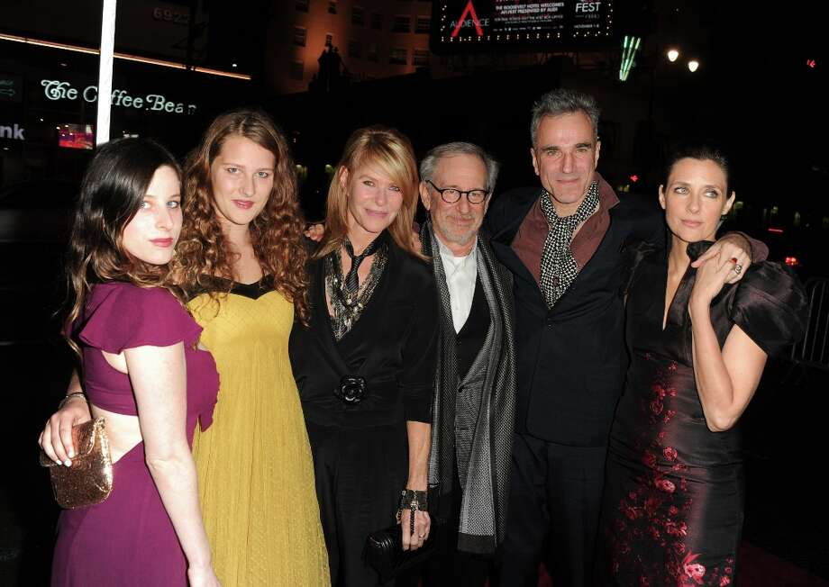 "(L-R) actress Sasha Spielberg, Destry Allyn Spielberg, actress Kate Capshaw, director Steven Spielberg, actor Daniel Day-Lewis and filmmaker Rebecca Miller arrive at the ""Lincoln"" premiere during AFI Fest 2012 presented by Audi at Grauman's Chinese Theatre on November 8, 2012 in Hollywood. Photo: Kevin Winter, Getty Images For AFI / 2012 Getty Images"