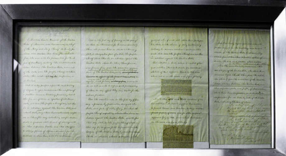 The Preliminary Emancipation Proclamation.  (John Carl D'Annibale / Times Union)