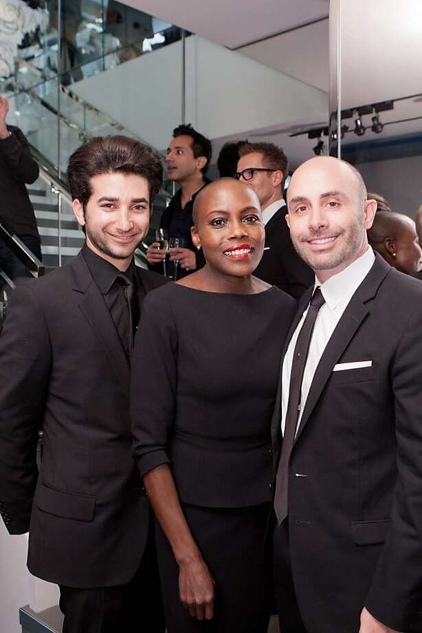 Stylish guests at the Dior Homme boutique party on Nov. 8 in San Francisco, a celebration of fashion with Details magazine, included Jonathan Lazar, Carol Williams, and Jamison DeTrolio (from left to right.) Photo: Drew Altizer Photography